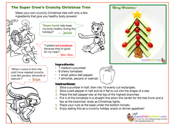 Fun food art nutrition activity for kids for Christmas