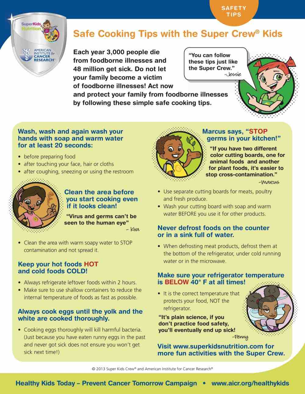 Food safety tips for cooking with the kids and the Super Crew