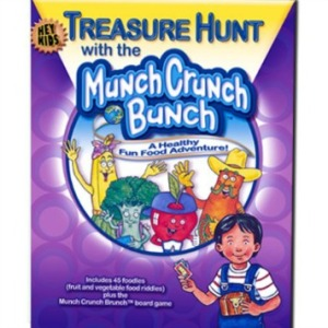 Treasure Hunt with the Munch Crunch Bunch, Available in Spanish & English