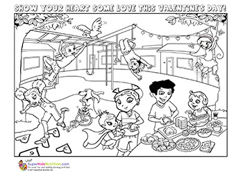 happy valentines coloring page