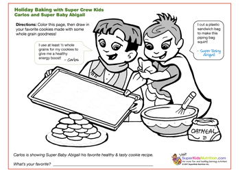 christmas baking nutrition activity for kids super crew