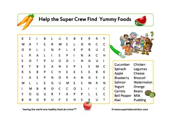 food group fun word search