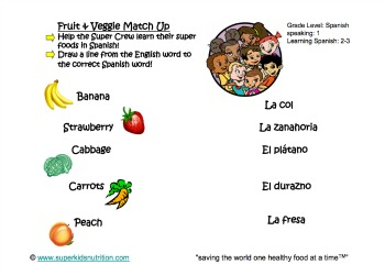 fruit and veggie match up