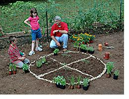 joe the gardener with kids