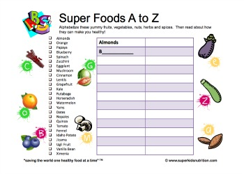 super foods a z. | SuperKids Nutrition