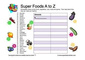 super foods a-z