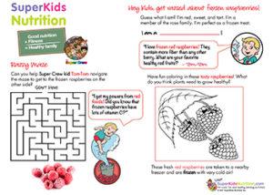 maze activity for kids superkids nutrition