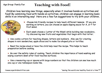 teaching with food