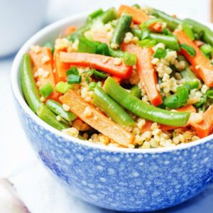 veggie stir-fry with whole grains