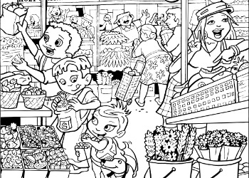 Super Crew Coloring Pages Fun Nutrition For Kids Superkids Coloring Page Of