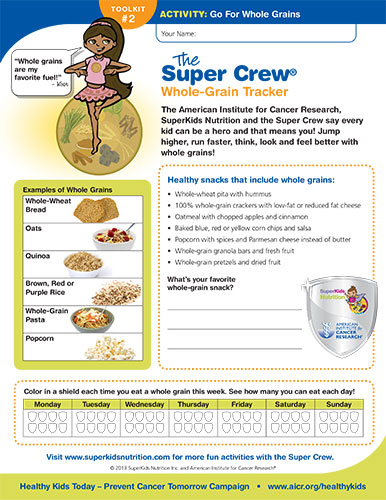 Go With Whole Grains Superkids Nutrition