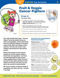Taste a Rainbow of Colors: Fruit and Veggie Cancer Fighters