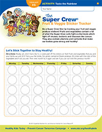 The Super Crew Fruit and Veggie Sticker Tracker