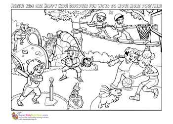 workout coloring pages