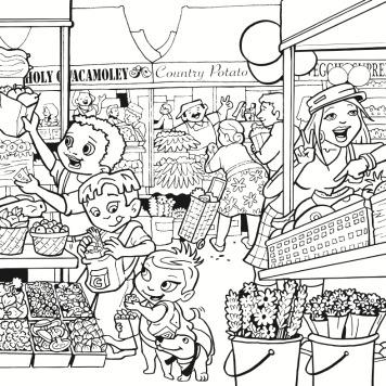 Super Crew at the Market BW HP