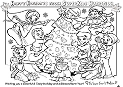 2016 Holiday Coloring Page