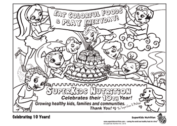 fitness coloring pages. Super Crew Celebrations Coloring Page  Pages Fun Nutrition for Kids SuperKids