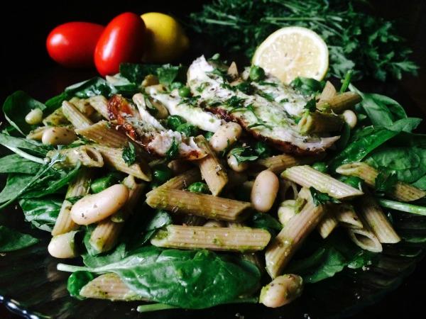 Basil Pasta Cannellini Salad recipe