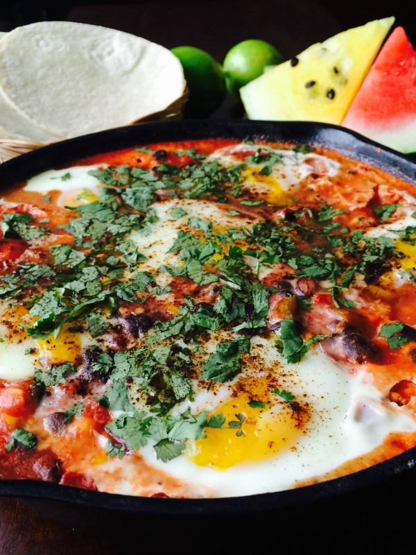 Southwestern Baked Eggs- Skillet recipe