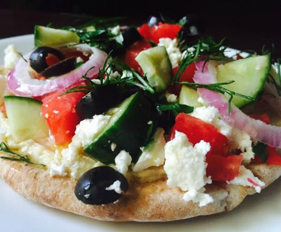No Bake Greek Pita Pizza for page