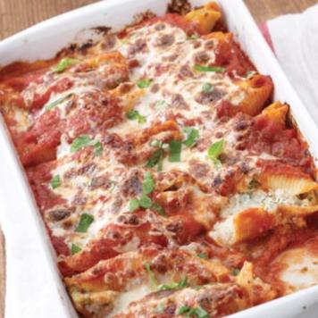 Lasagna made with Greek Yogurt