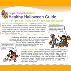 The Super Crew's Healthy Halloween Guide for kids activities - SuperKidsNutrition.com