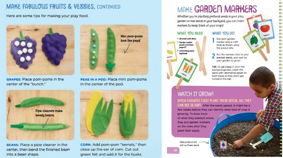 farmers market create and play activity book for kids