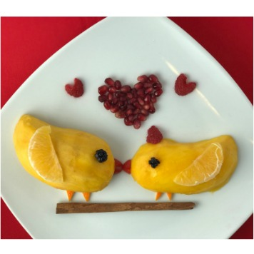 Fun Food Art for Valentine's Day