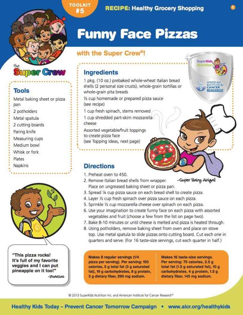 healthy plan for kids pizza