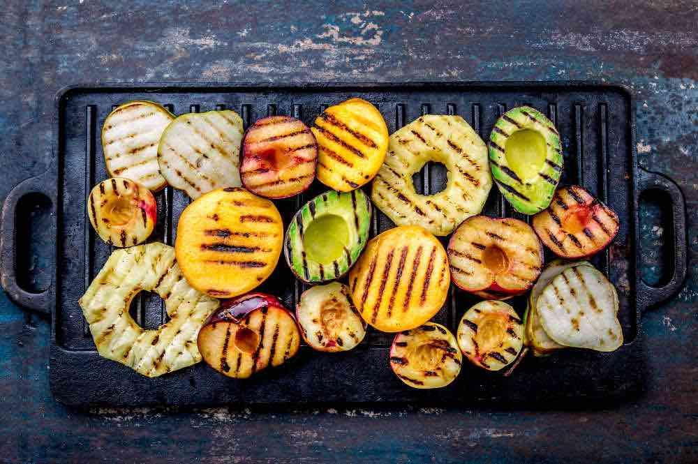 seasonal grilled fruit