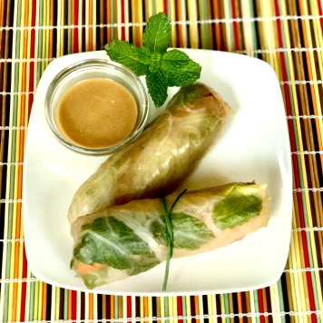 spring rolls with peanut dipping sauce kids recipe
