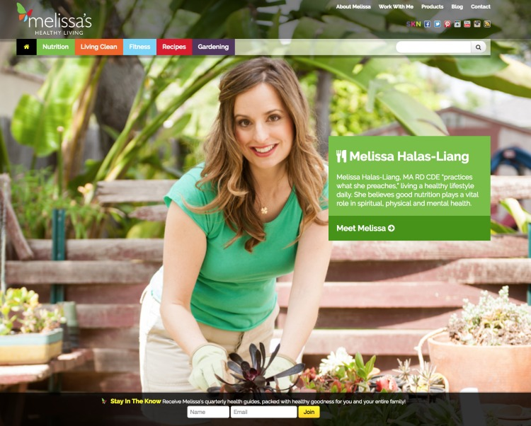 Melissa's Healthy Living Home Page | SuperKids Nutrition