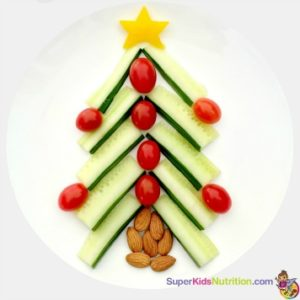 Christmas tree food art