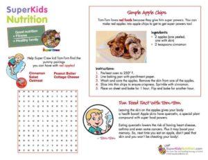 Homemade baked apple recipe with kids