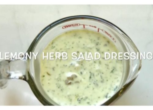 Lemony Herb Salad Dressing