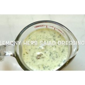 Lemony Herb Salad Dressing