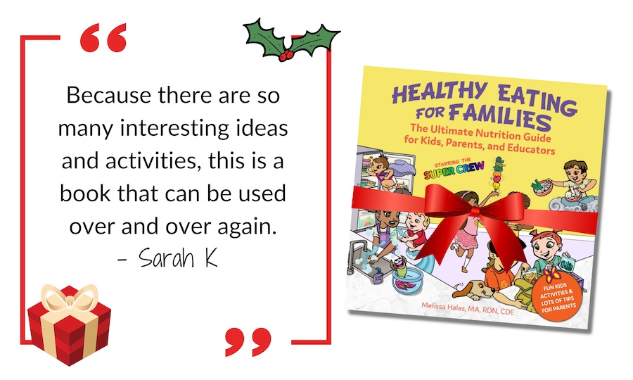 Christmas ad healthy eating for families book
