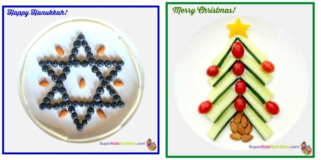 holiday food art hanukkah and christmas activity for kids