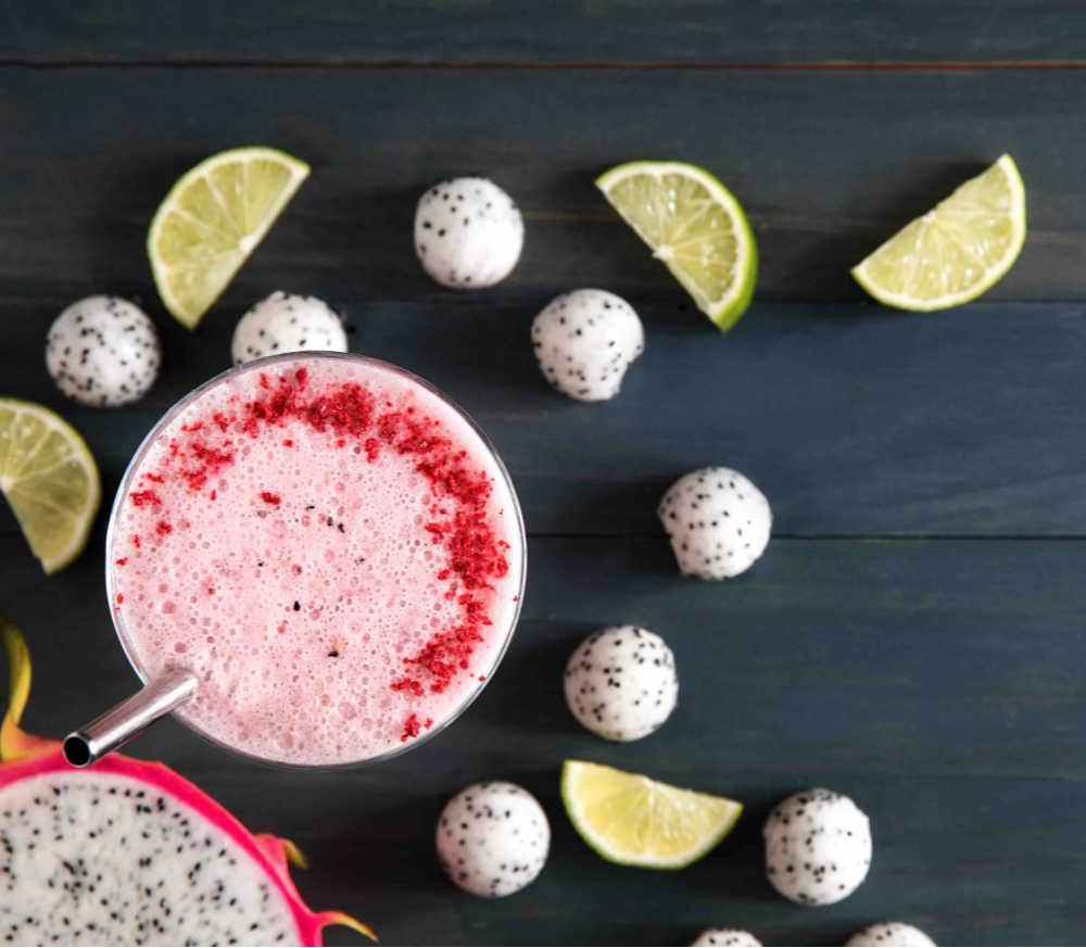 Dana Angelo White Dragon Fruit raspberry smoothie