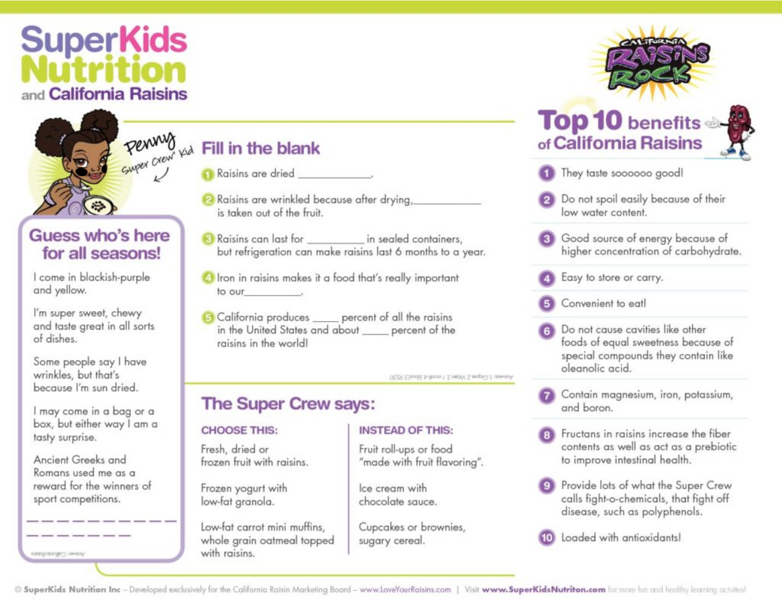 Fun Healthy Activities for Kids | SuperKids Nutrition