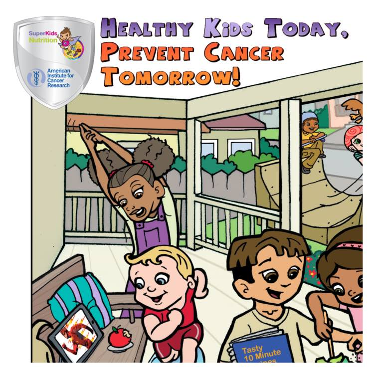 cancer prevention for kids, healthy kids today prevent cancer tomorrow campaign poster