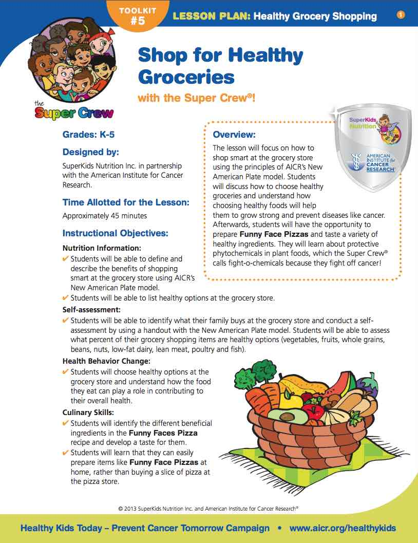 Healthy Grocery Shopping | SuperKids Nutrition