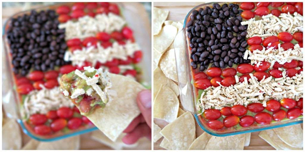 healthy bean dip for 4th of july