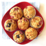 blueberry muffins for 4th of july red white and blue