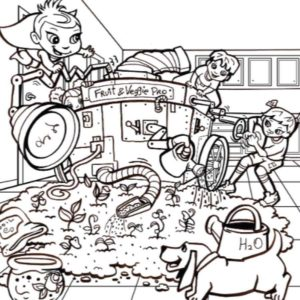 Have Fun Coloring with The Super Crew coloring page for kids