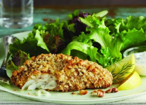 Walnut and Panko Crispy Cod Fillets