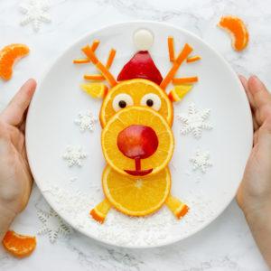 Christmas Holiday Food Art for the Kids