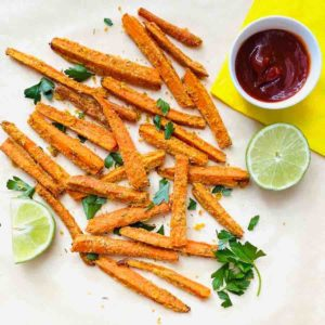 Chickpea Dusted Carrot Fries