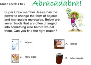 matching activity for kids superkids nutrition