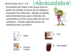 Abracadabra Matching with Jessie Feature (Spanish) kids activity superkids nutrition